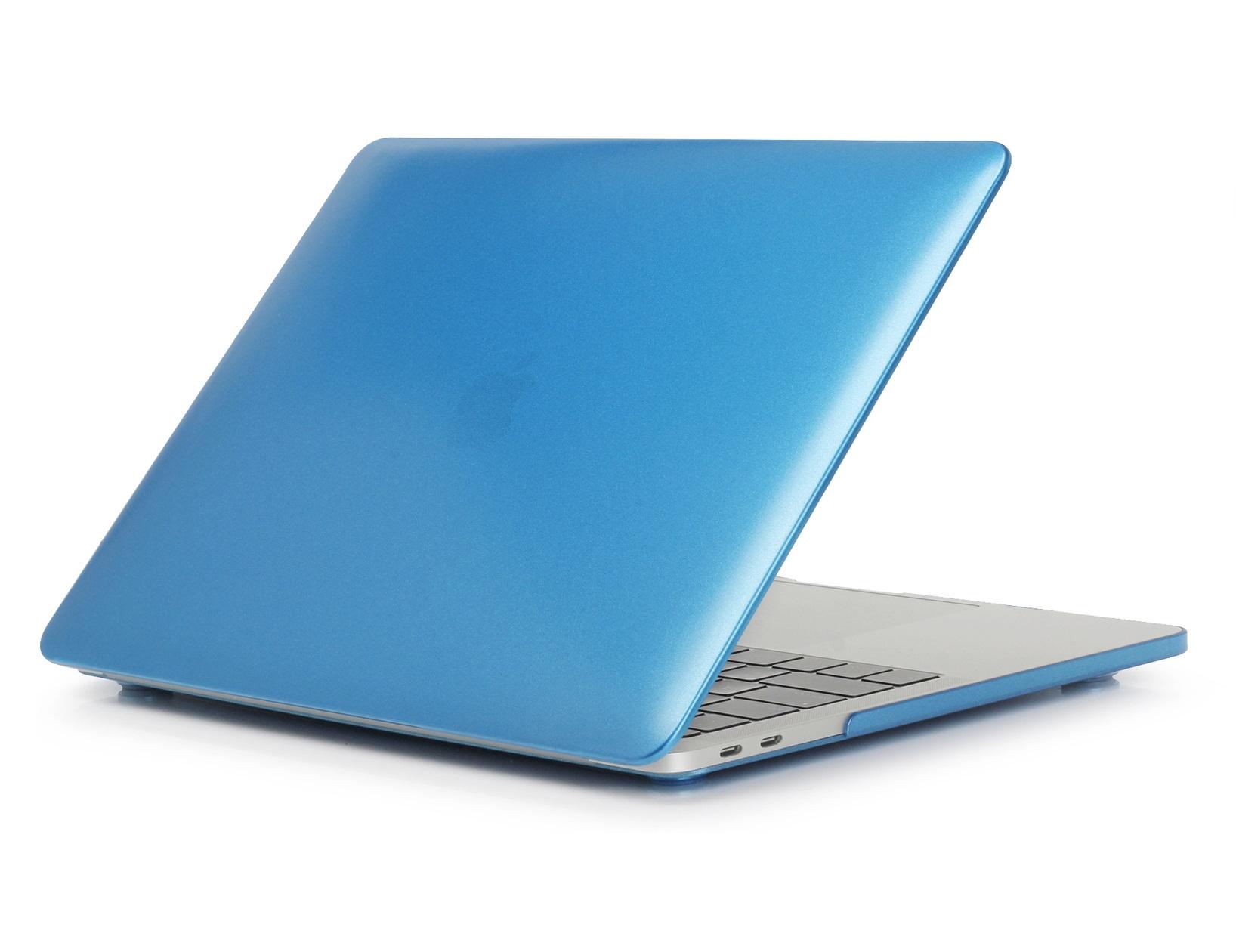 """Carcasa de protectie albastra semitransparenta eStuff pentru Apple MacBook Pro 13"""" (Retina, Late 2016) A1706 Touch Bar, 13"""" (Retina, Late 2016) A1708, 13"""" (Retina, Mid 2018) A1989, 13"""" (2017, Retina) Touch Bar 4TBT3"""