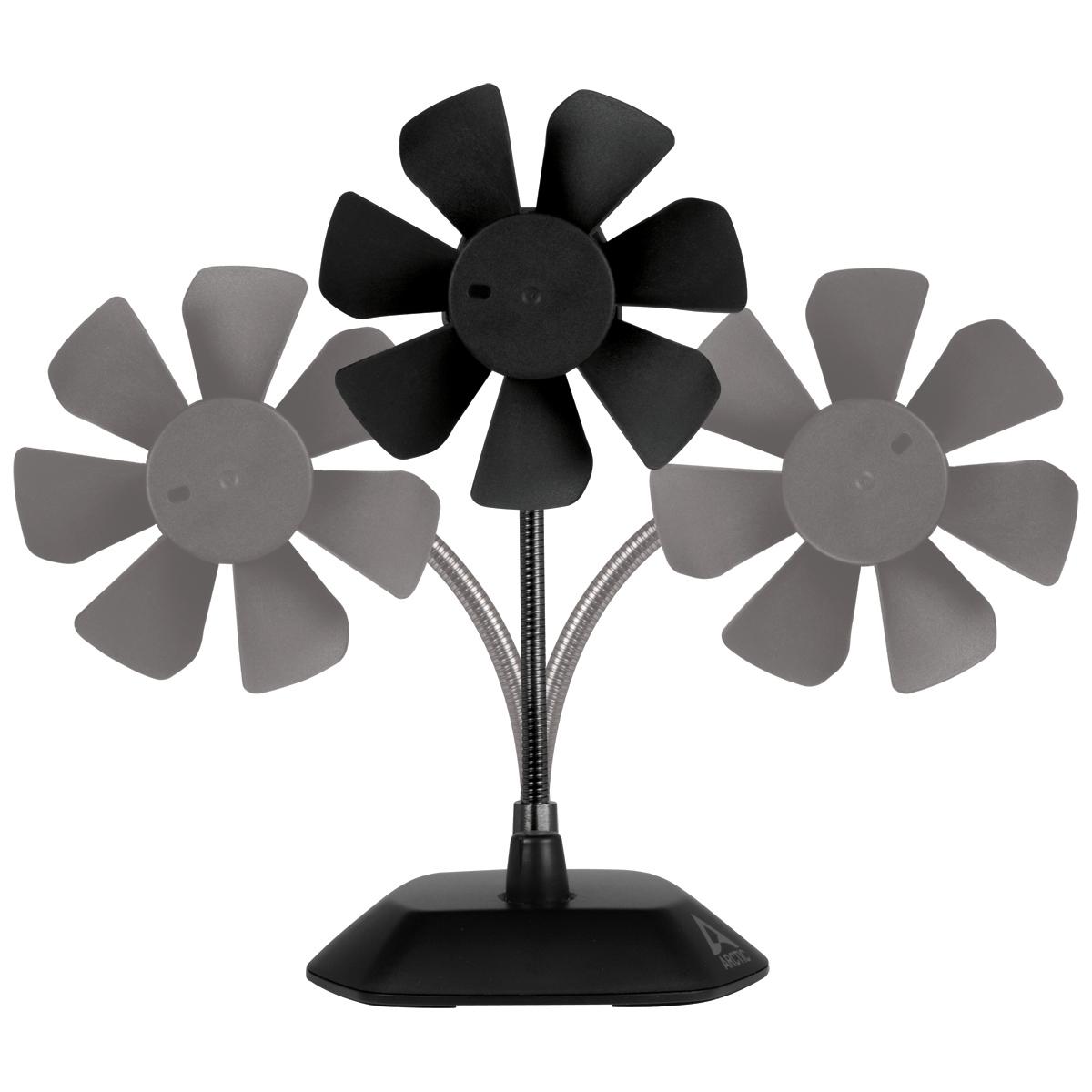 Ventilator de birou Arctic Breeze, conectare USB, control turatie 800 - 1800 (rpm) , culoare Negru