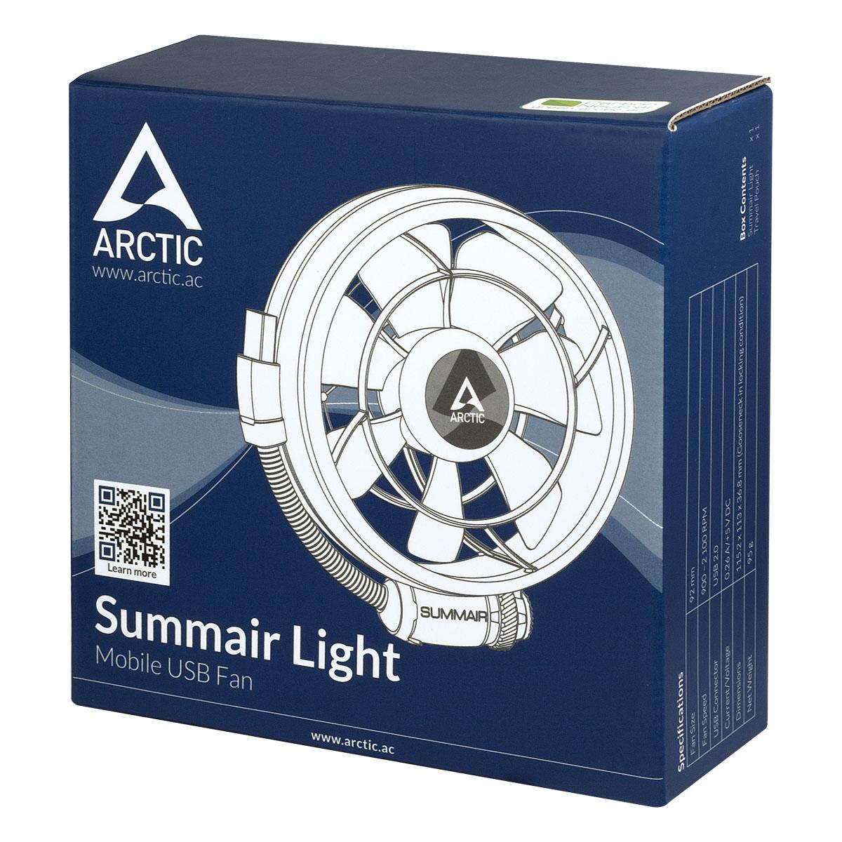 Ventilator USB de birou Arctic Summair Light