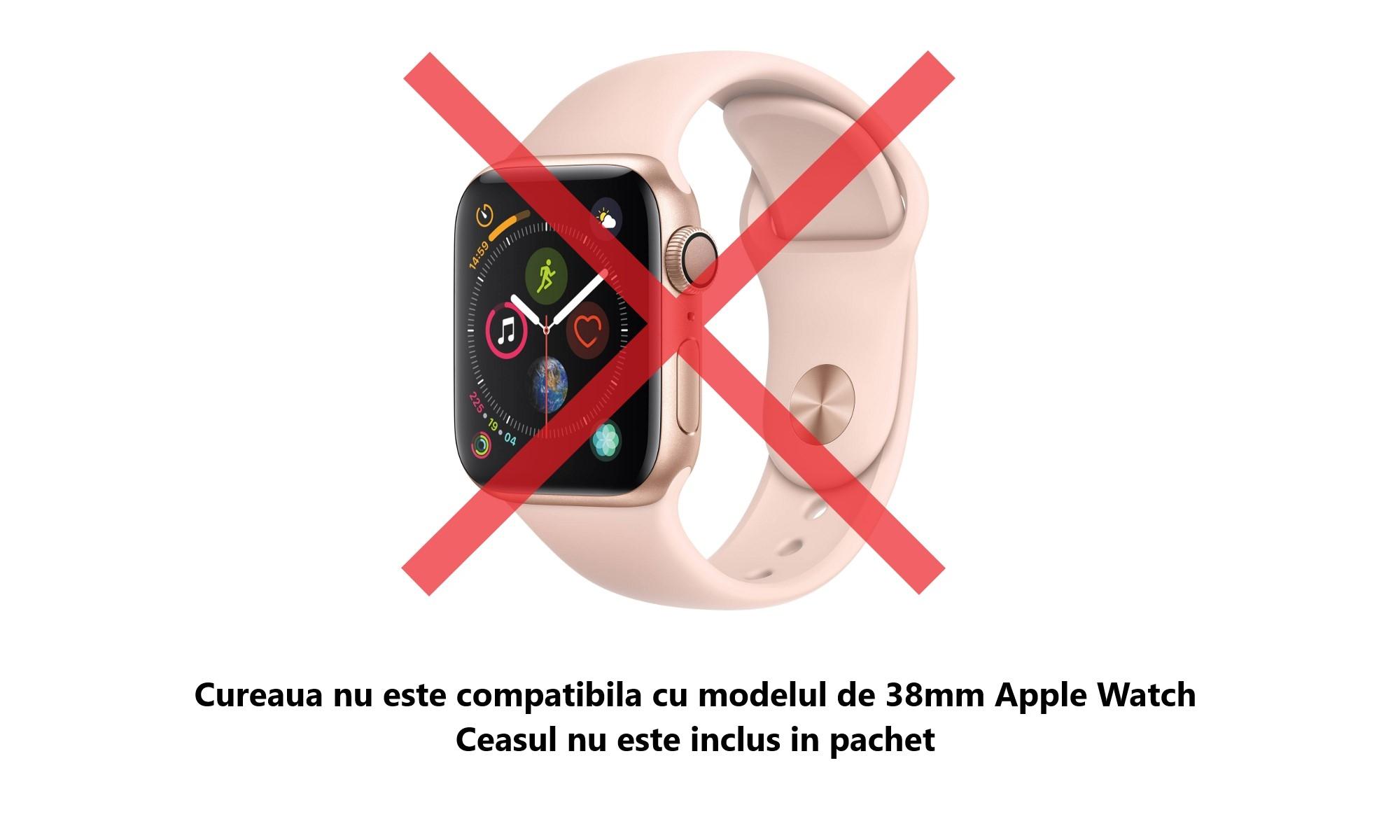 Curea Apple Watch 42mm, Soft Silicone compatibila cu Apple Watch Seria 3, Seria 2, Seria 1, Sport Edition, masura M/L (Negru/Verde neon)