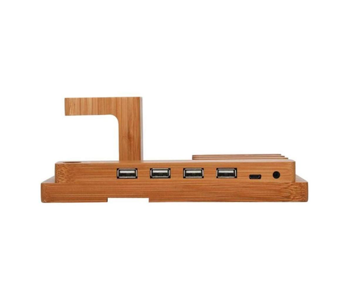 Stand de incarcare 4 in 1 pentru Apple Watch, iPhone, iPad, cu 4 porturi USB