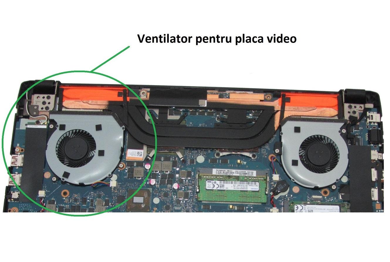 Cooler ventilator Asus ROG G502VM, G502VMK, varianta pentru placa video
