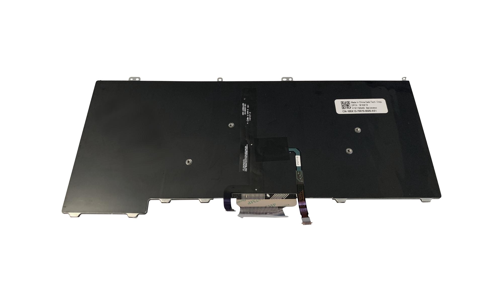 Tastatura compatibila Dell Latitude E7440 iluminata, layout US, cu trackpoint
