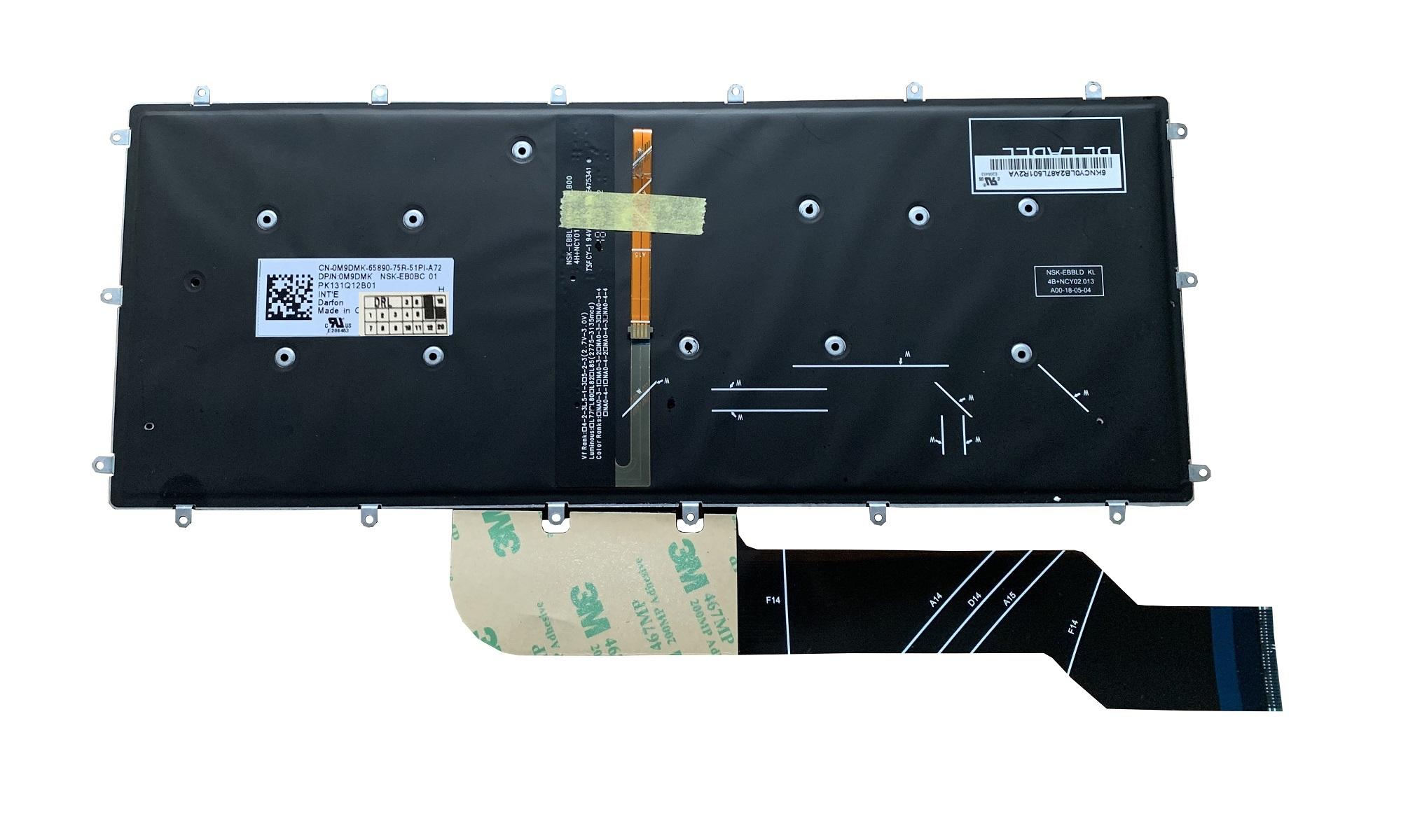 Tastatura compatibila Dell Inspiron 15 7573, cu iluminare, layout US