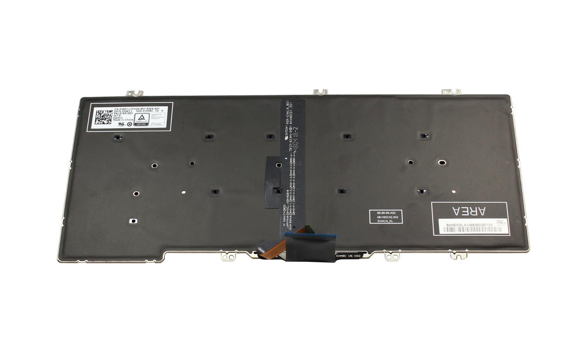 Tastatura originala Dell Latitude 7380 iluminata, layout US