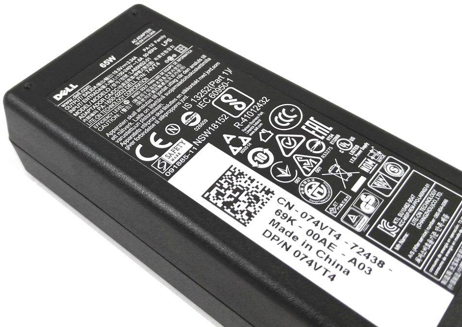 Incarcator original laptop Dell XPS 65W mufa tip L
