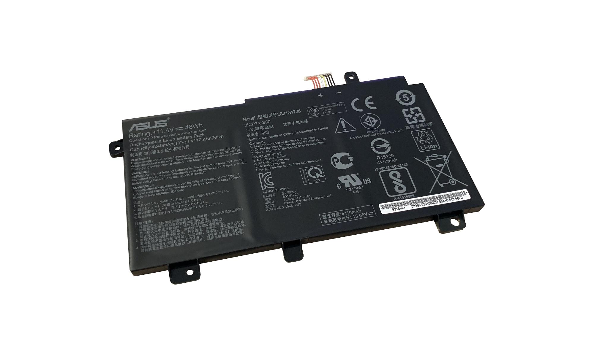 Baterie originala Asus 0B200-02910000, B31N1726, 48Wh
