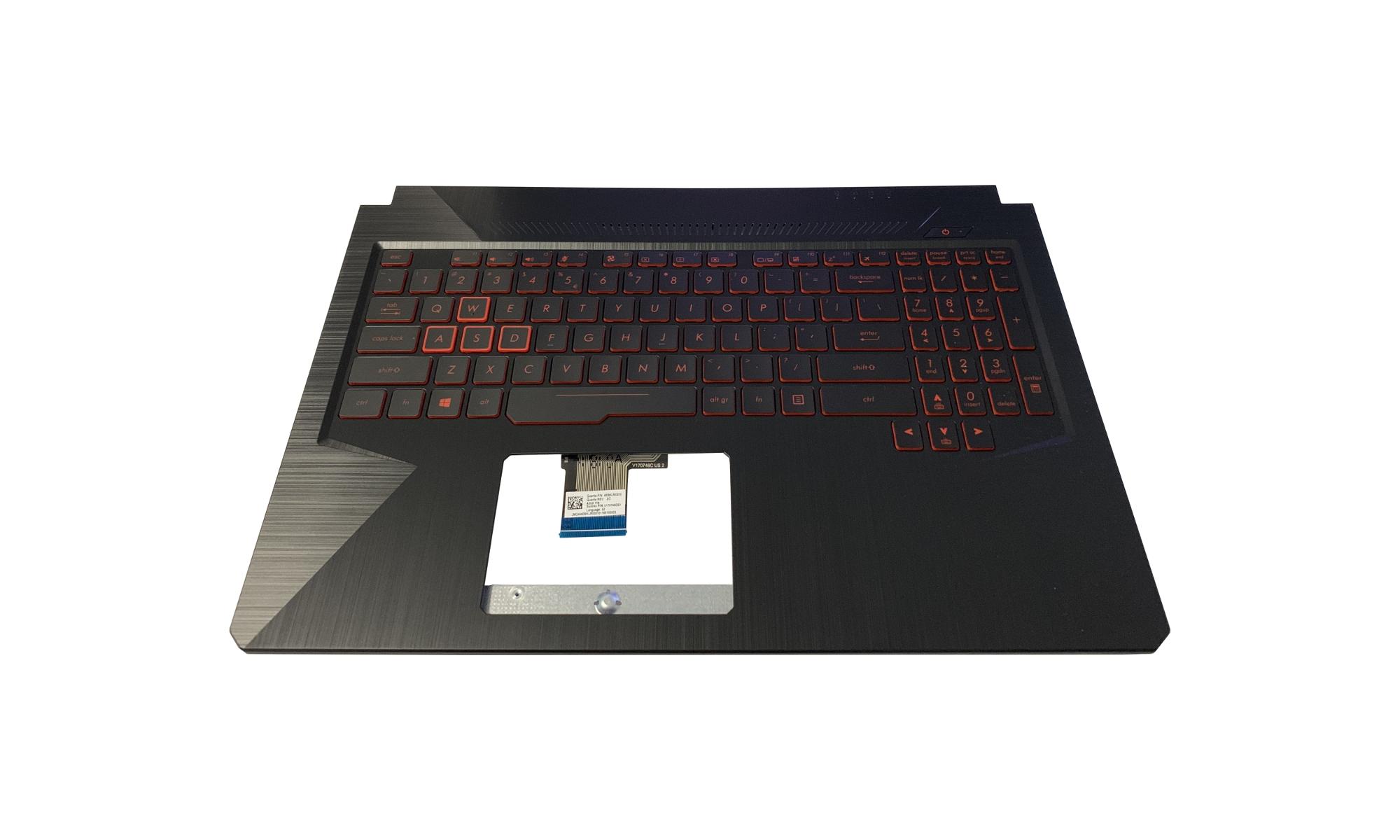 Carcasa superioara si tastatura originala Asus TUF FX504GM, layout US, cu iluminare