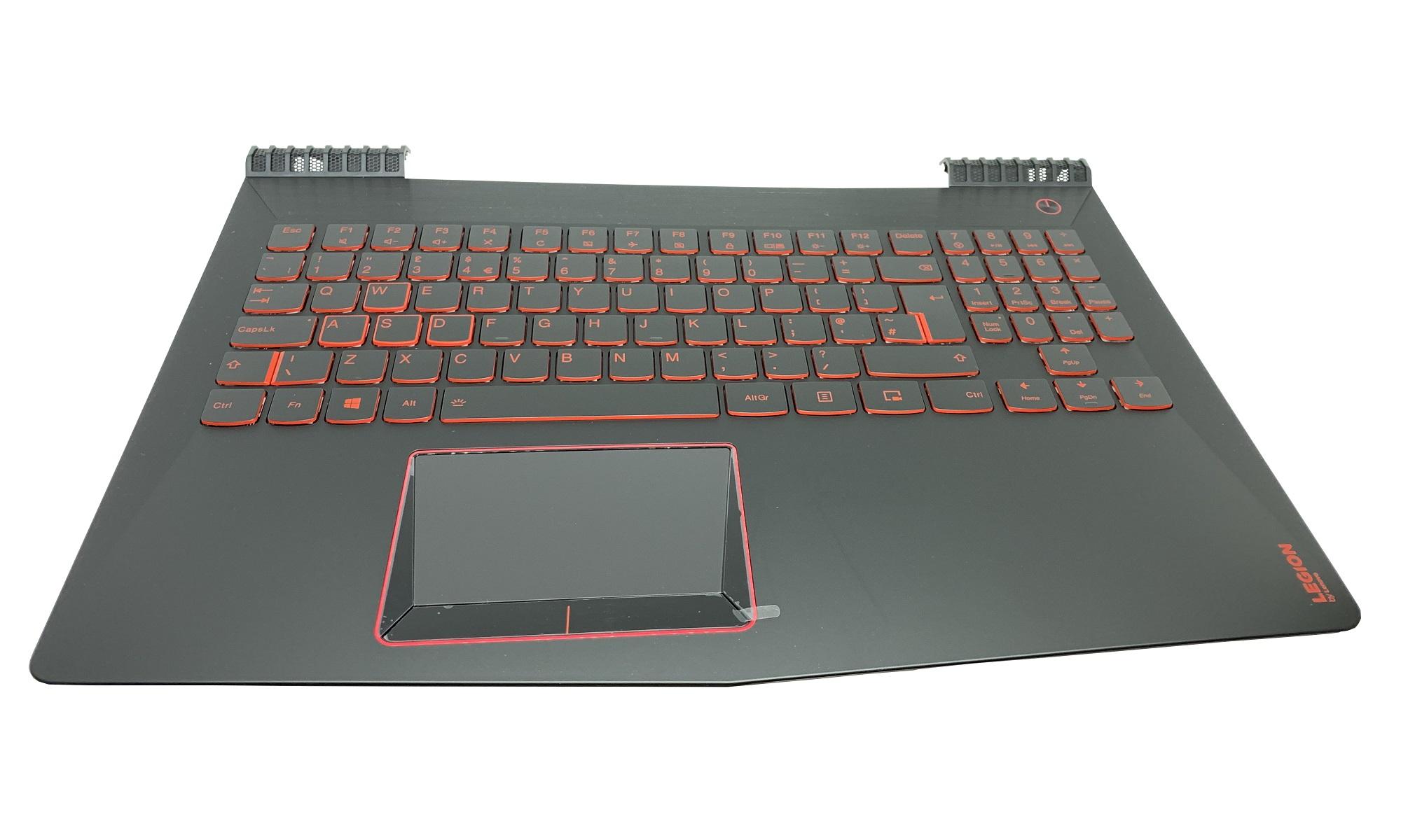 Carcasa superioara si tastatura originala Lenovo Legion Y520-15IKBM, layout UK, iluminata, pentru modele cu machine type 80YY