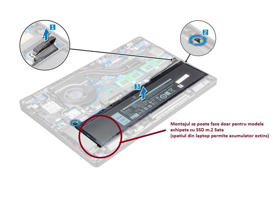 Baterie originala Dell Precision 3520 (with M.2 storage) 6 celule, 92Wh