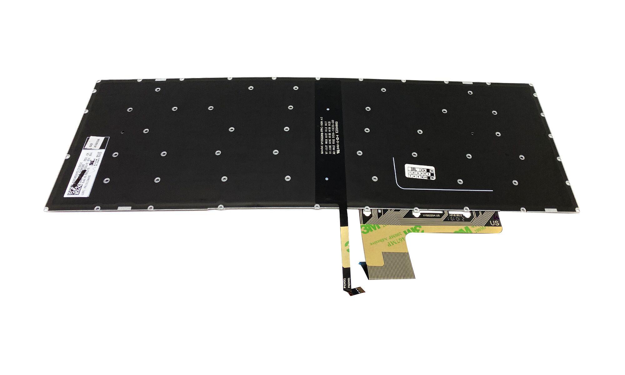 Tastatura compatibila laptop Lenovo IdeaPad 510-15IKB, 510-15ISK, iluminata, Standard US, model SN20M52965