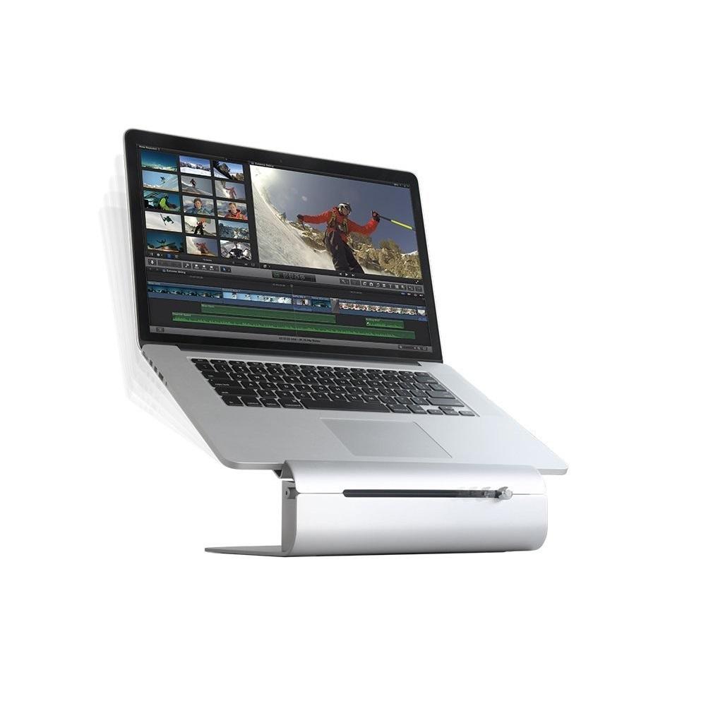 Suport Rain Design iLevel 2 Laptop Stand, cu reglare unghi vizualizare, Silver, pentru Apple MacBook Pro Retina Touch Bar