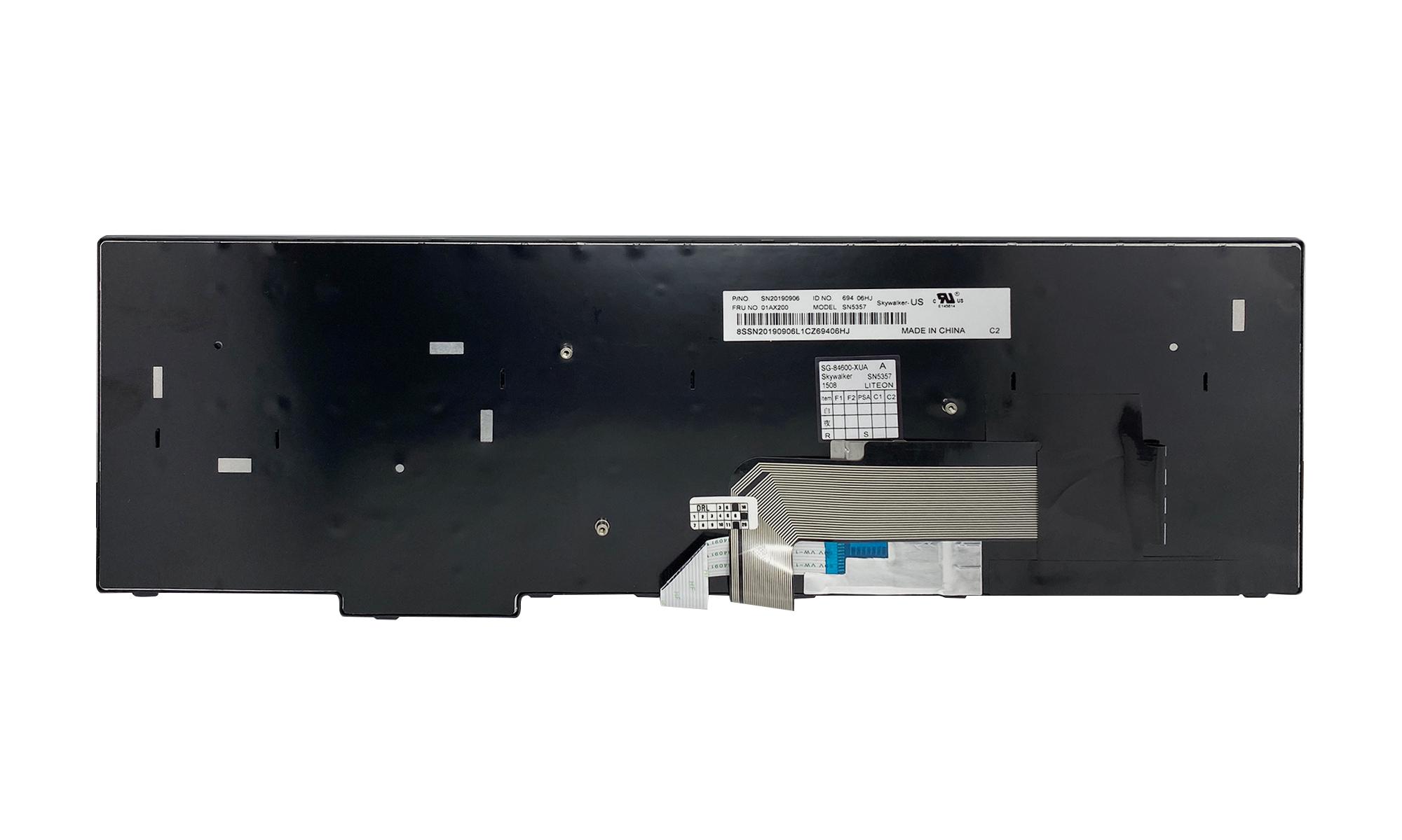 Tastatura compatibila Lenovo Thinkpad E570, E575, layout US, neagra, fara iluminare