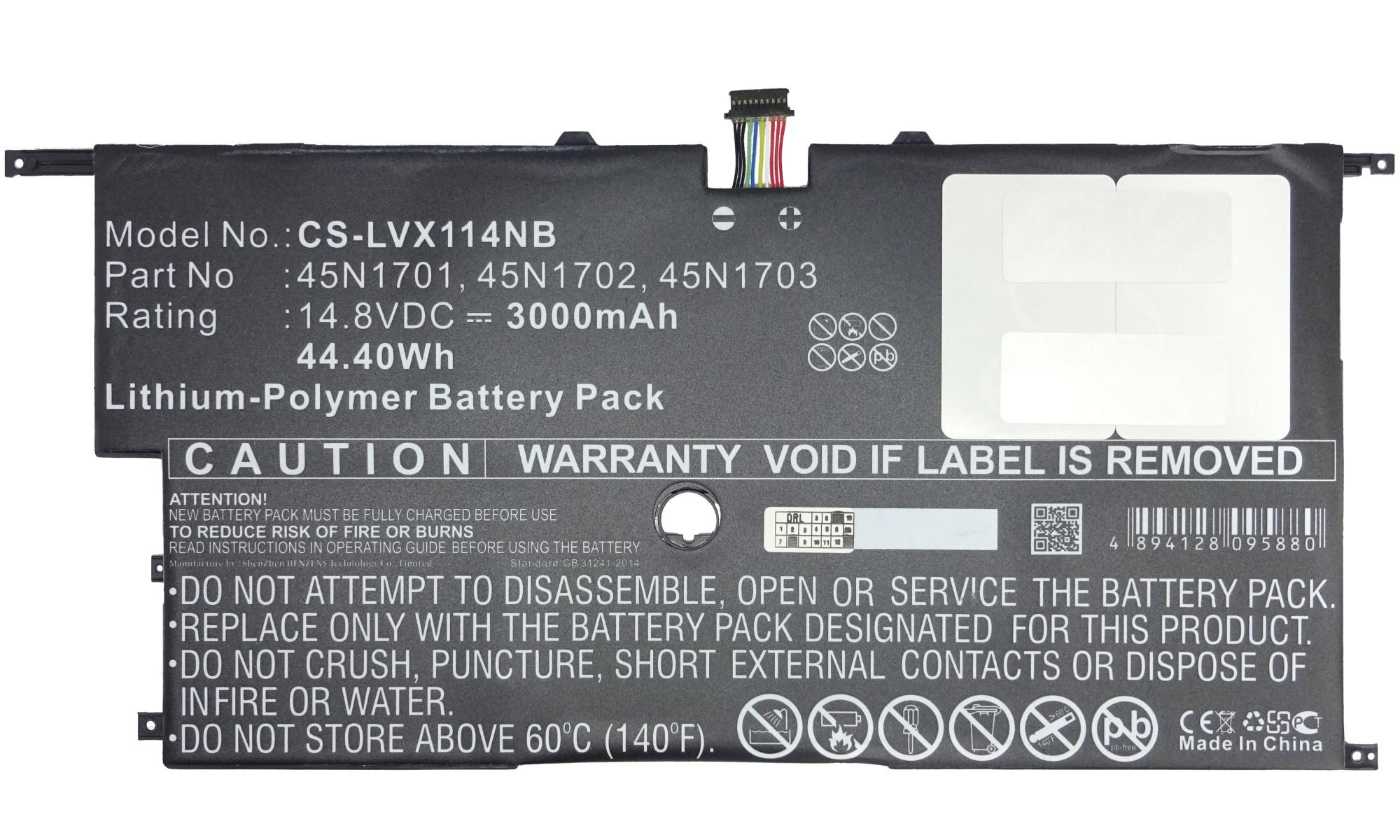 Baterie compatibila Lenovo ThinkPad X1 Carbon Gen 2, Gen 3