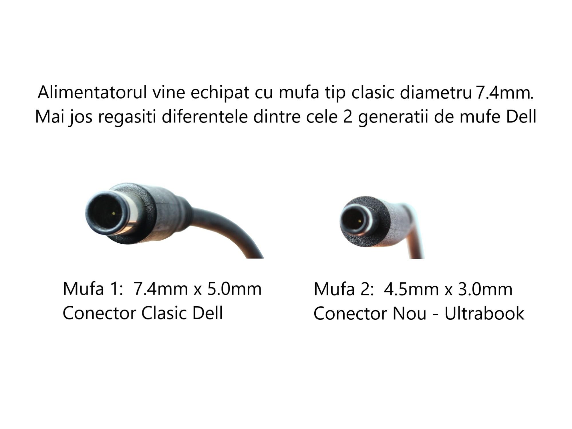 Incarcator original laptop Dell Latitude 5401, 5491, 5501, 5591, E6400, E6440, E6500, E6540, 130W, 19.5V, 6.67A, mufa 7.4mm, varianta clasica