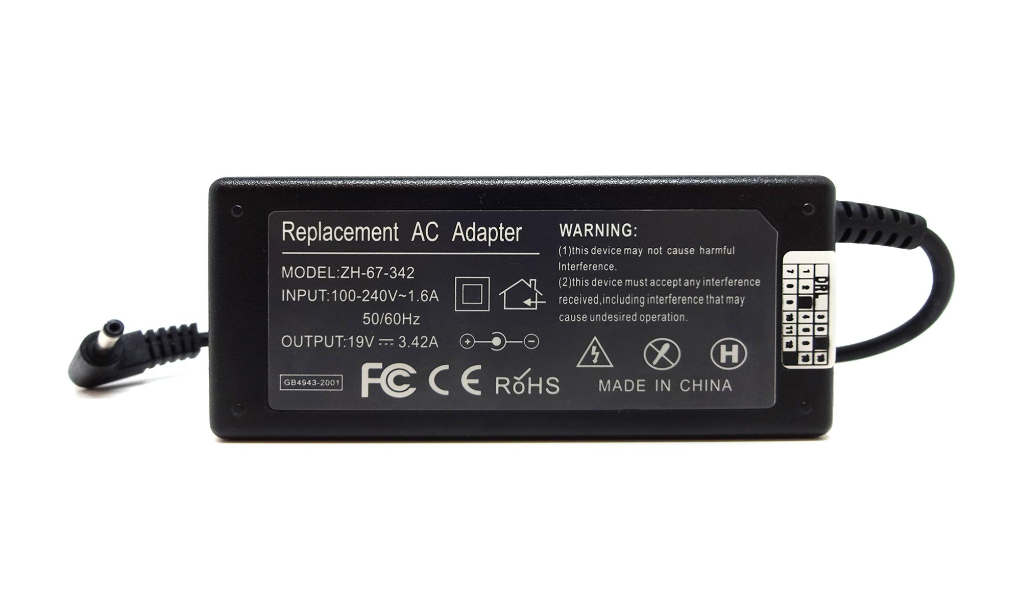 Incarcator compatibil Asus A401LB, A401UB, A401UQ, A540LJ, A542UR, BX303LA, BX303LAB, BX303LN, BX303LNB, BX32LN, 19V, 3.42A, 65W, mufa 4.0 x 1.35mm
