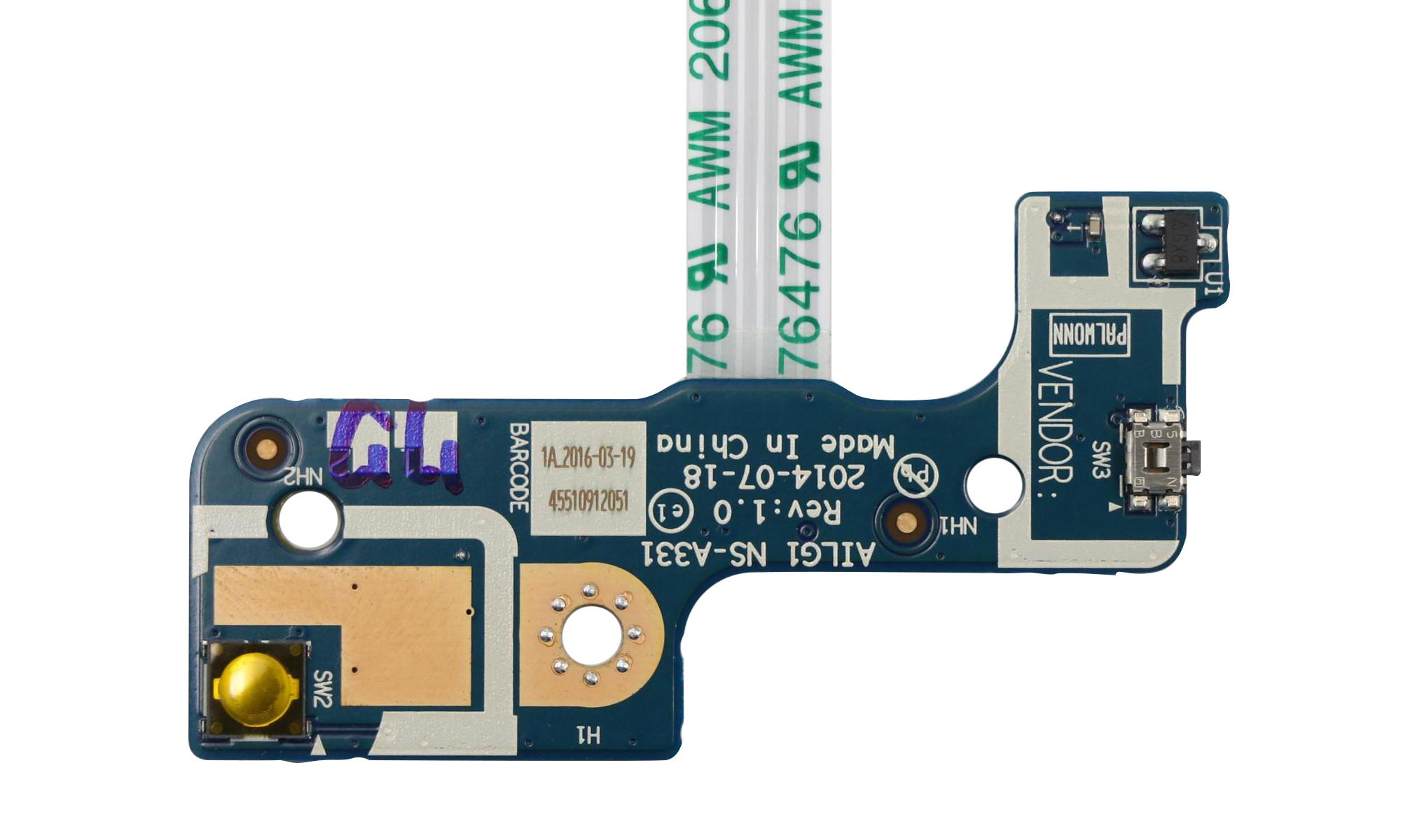 Buton si power board compatibil Lenovo G70-35, G70-70, G70-80, Z70-80, B70-80, model AILG1 NS-A331