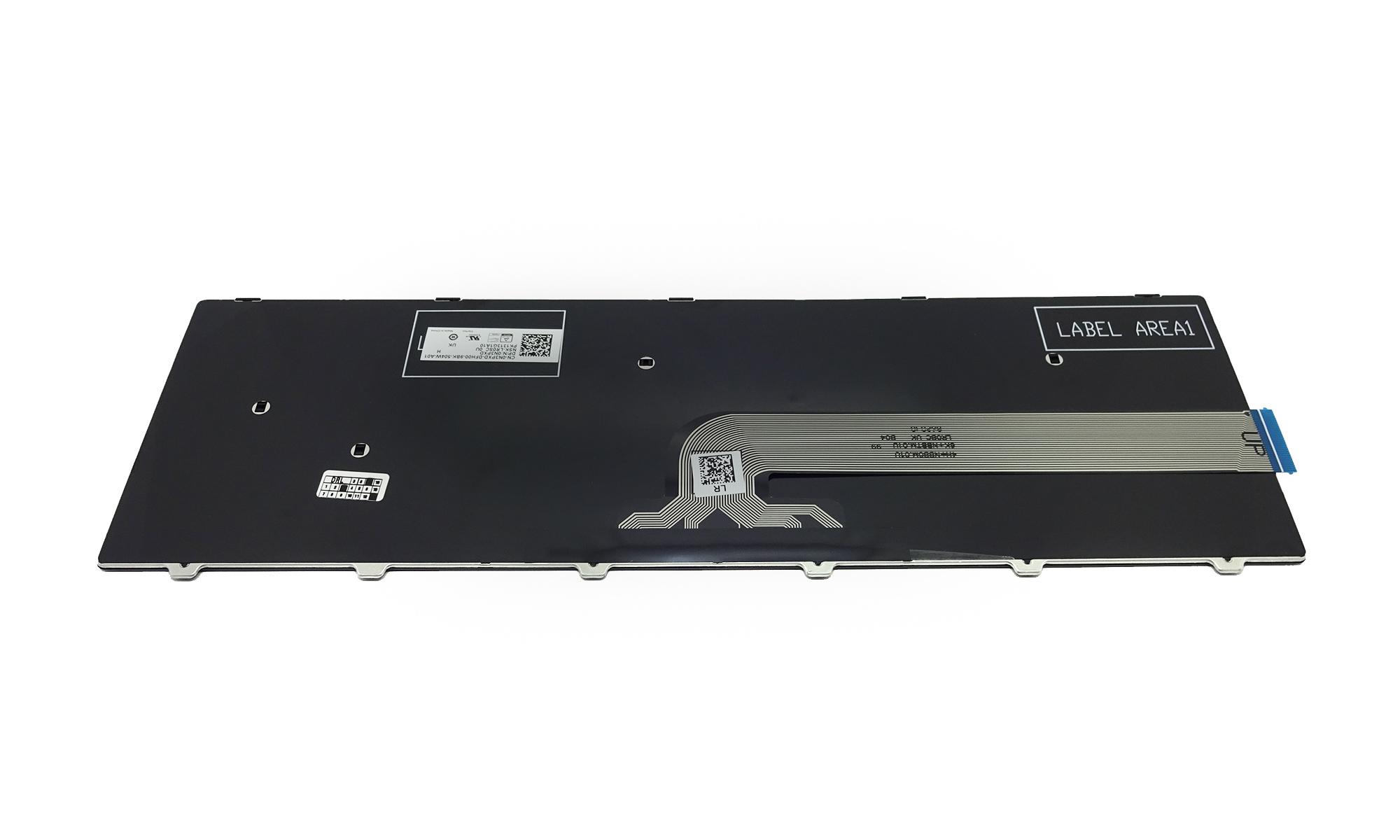 Tastatura originala Dell Inspiron 5758, 5759, 7557, 7559, neagra, fara iluminare, layout UK, model N3PXD