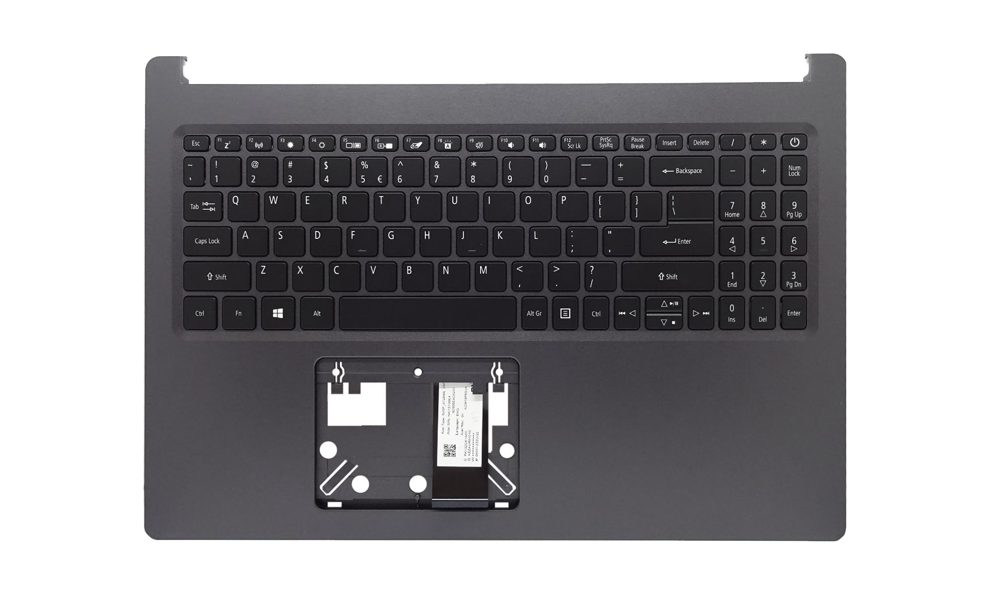 Carcasa superioara si tastatura originala Acer Aspire 5 A515-54, A515-54G, cu iluminare, layout US