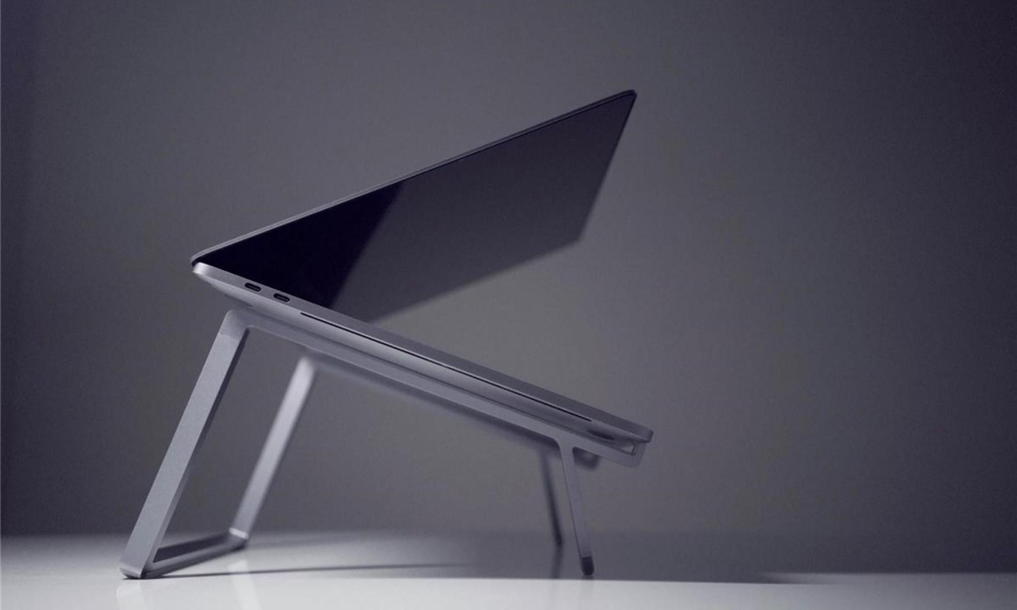 Suport Rain Design mBar pro+, Silver, pentru pentru Apple MacBook Pro Retina Touch Bar, portabil, pliabil