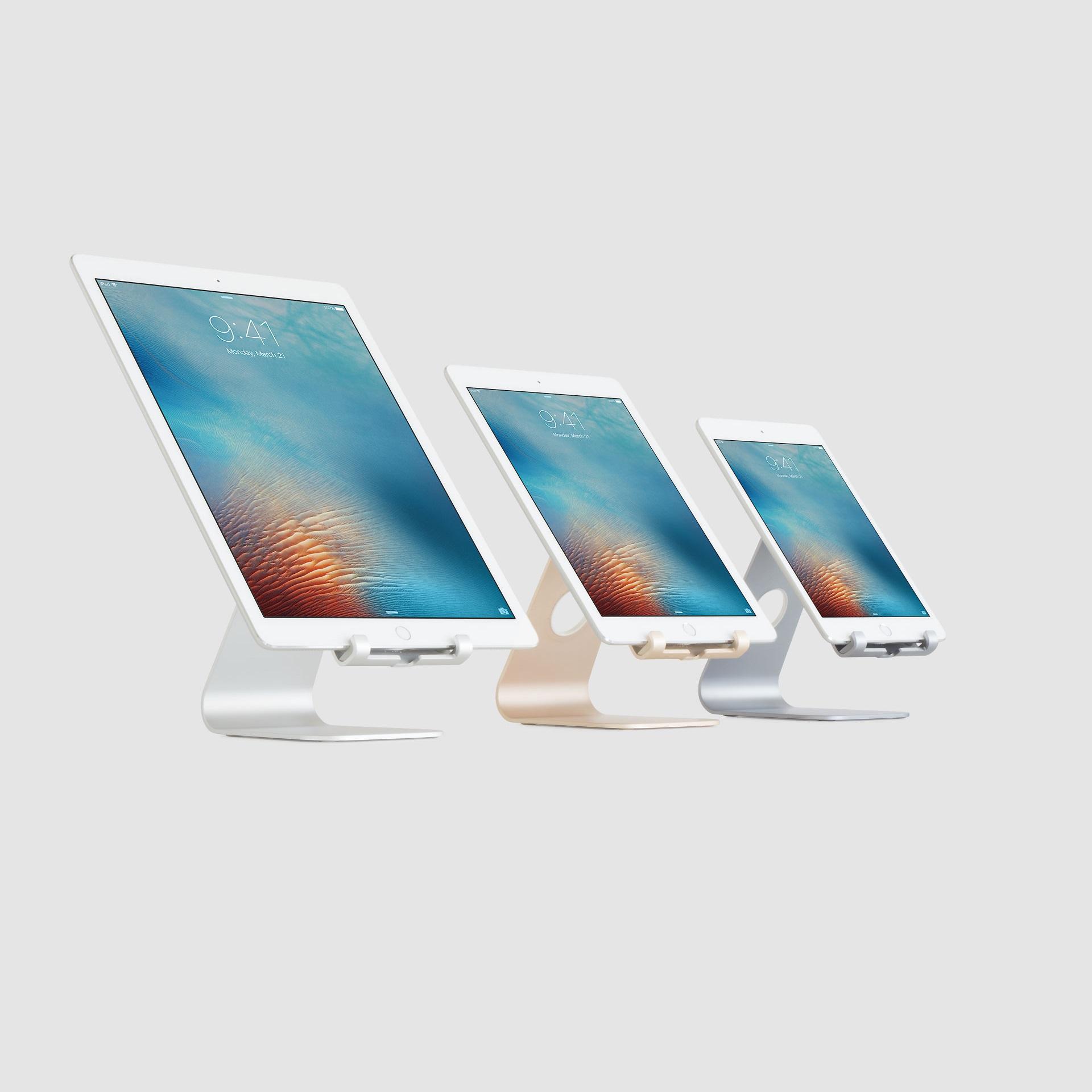 Suport Rain Design mStand Tablet Stand, Gold, pentru Apple iPad