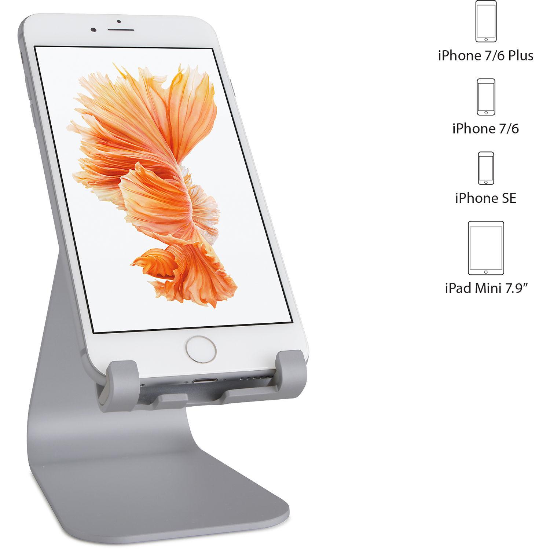 Suport Rain Design mStand Mobile, Space Gray, pentru Apple iPhone si iPad mini