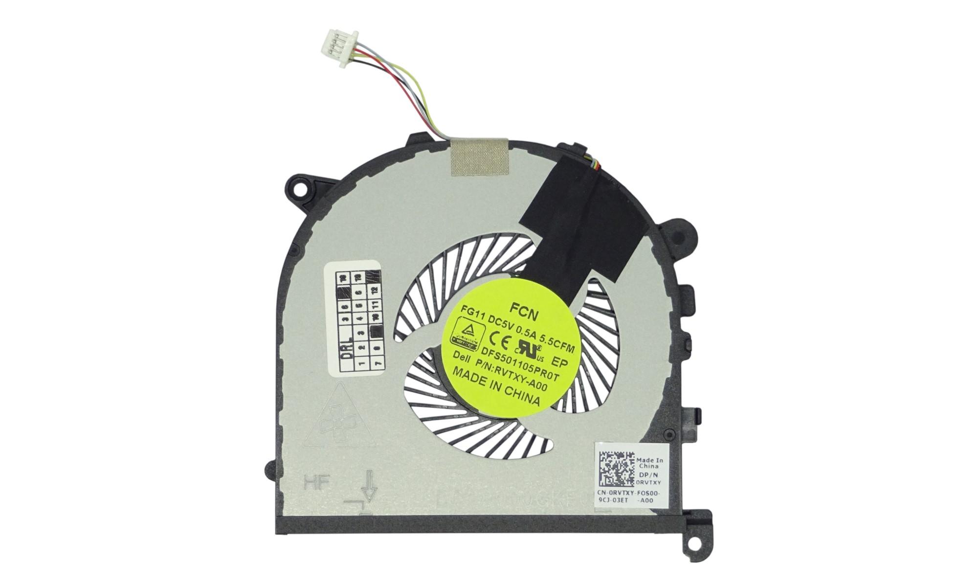 Cooler stanga pentru Dell Precision 15 5510, XPS 15 9550, model RVTXY DFS501105PR0T