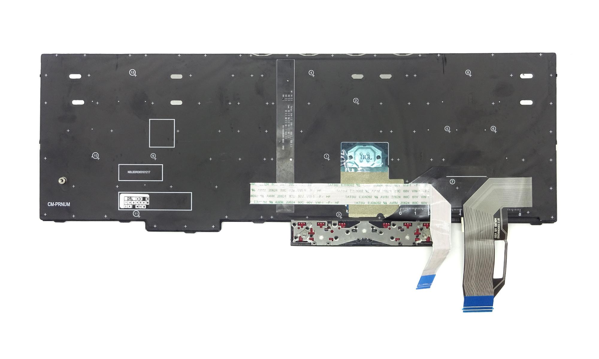 Tastatura compatibila Lenovo ThinkPad E580, E590, L580, L590, P52, P53, P53s, P72, P73, T590, cu iluminare, layout US