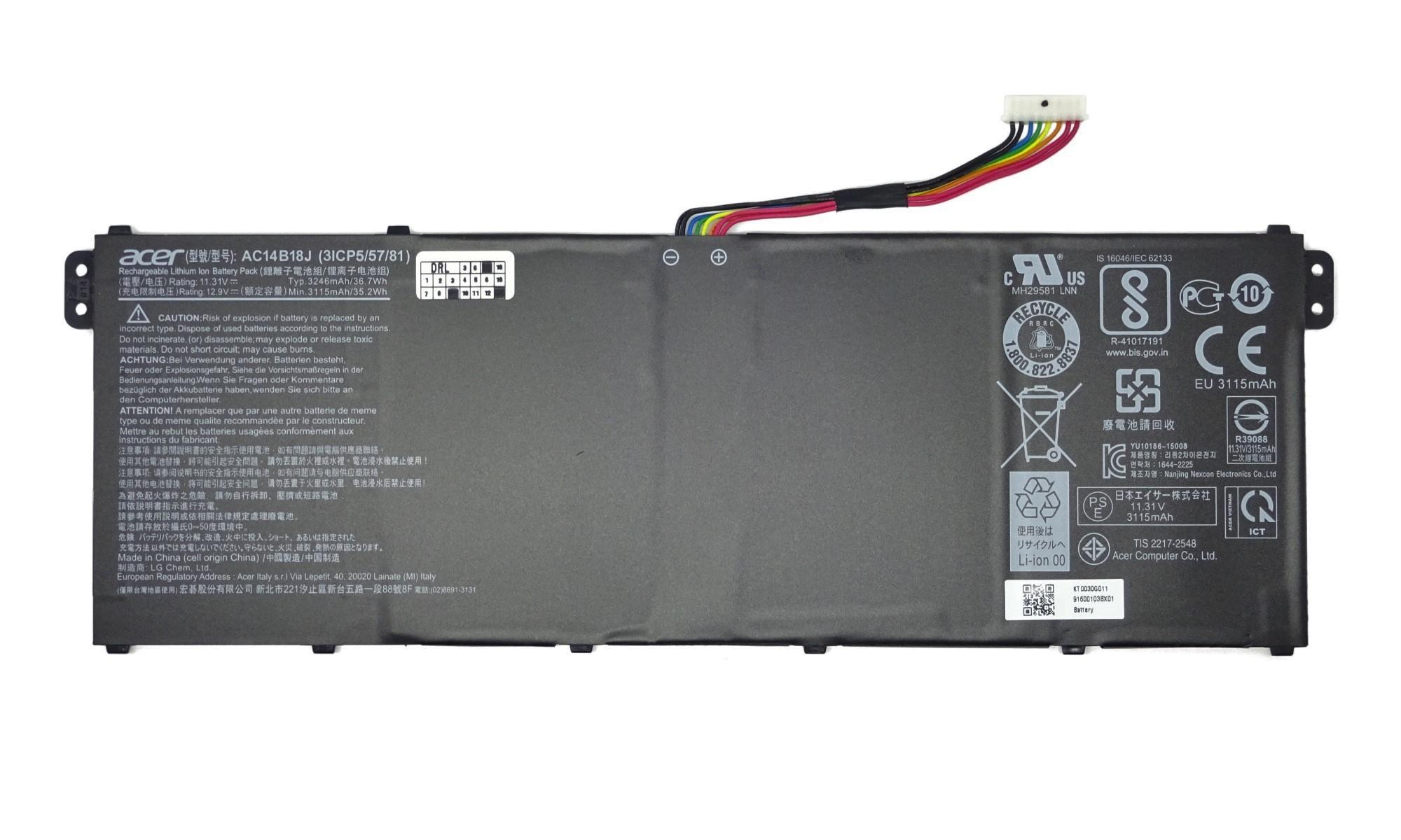 Baterie originala laptop Acer Aspire 3 A315-21, A315-31, A315-51, A315-53G, Aspire ES1-132, ES1-332, ES1-532G, ES1-732, Packard Bell EasyNote LG81AP, TE69AP, model AC14B18J
