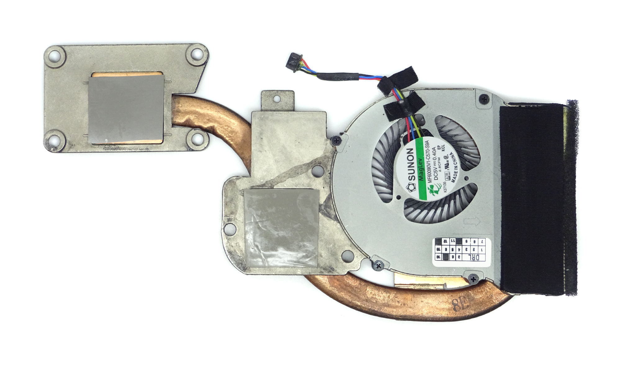 Sistem de racire Dell Latitude E6440 echipat cu placa video AMD, model GXC1X
