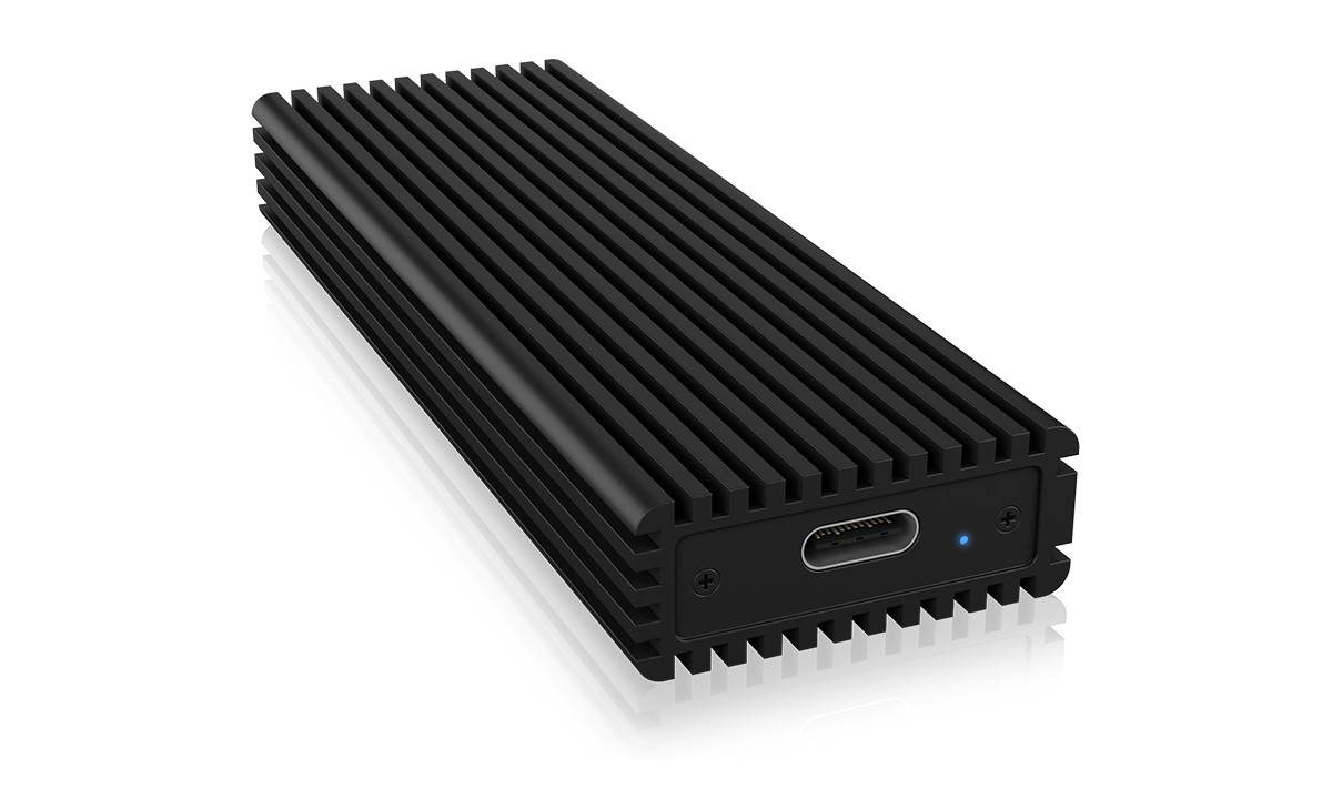 Rack extern M.2 NVMe M Key SSD, USB-A 2.0 & USB-C - 10 Gbit/s, carcasa aluminiu, RaidSonic ICY BOX
