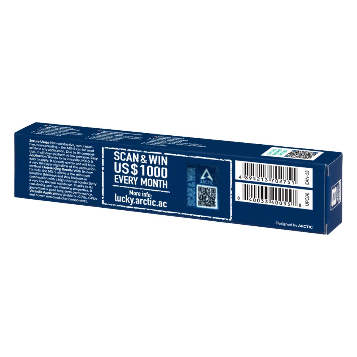 Pasta termoconductoare Arctic cooling MX-5 tub 8g