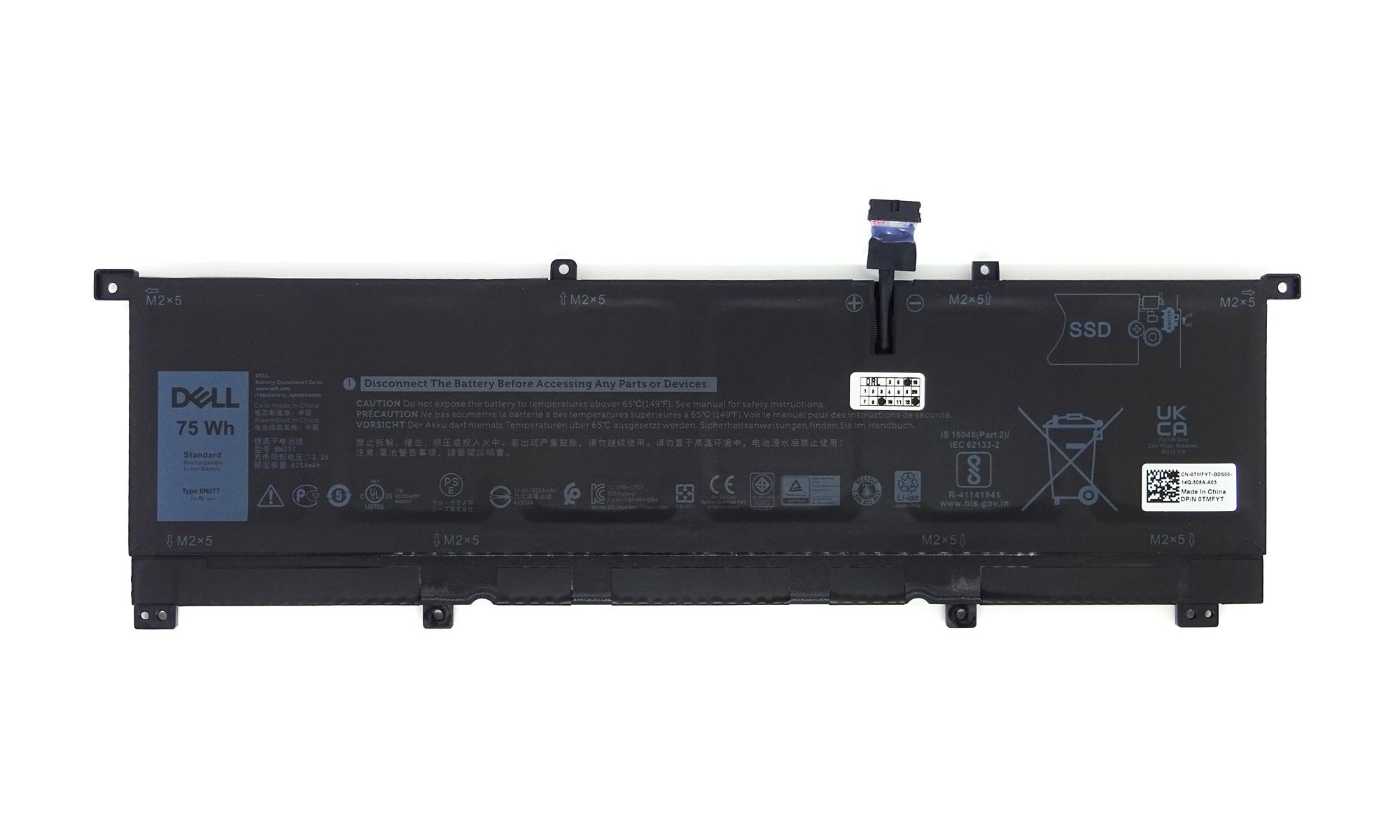 Baterie originala laptop Dell Precision 15 5530 2-in-1, XPS 15 9575 2-in-1, 11.4V, 6254mAh, 75Wh, model 8N0T7