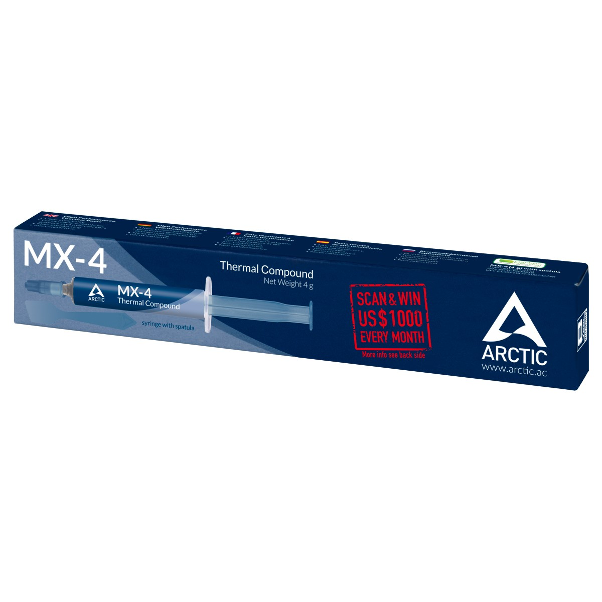 Pasta termoconductoare Arctic cooling MX-4 tub 4g cu spatula