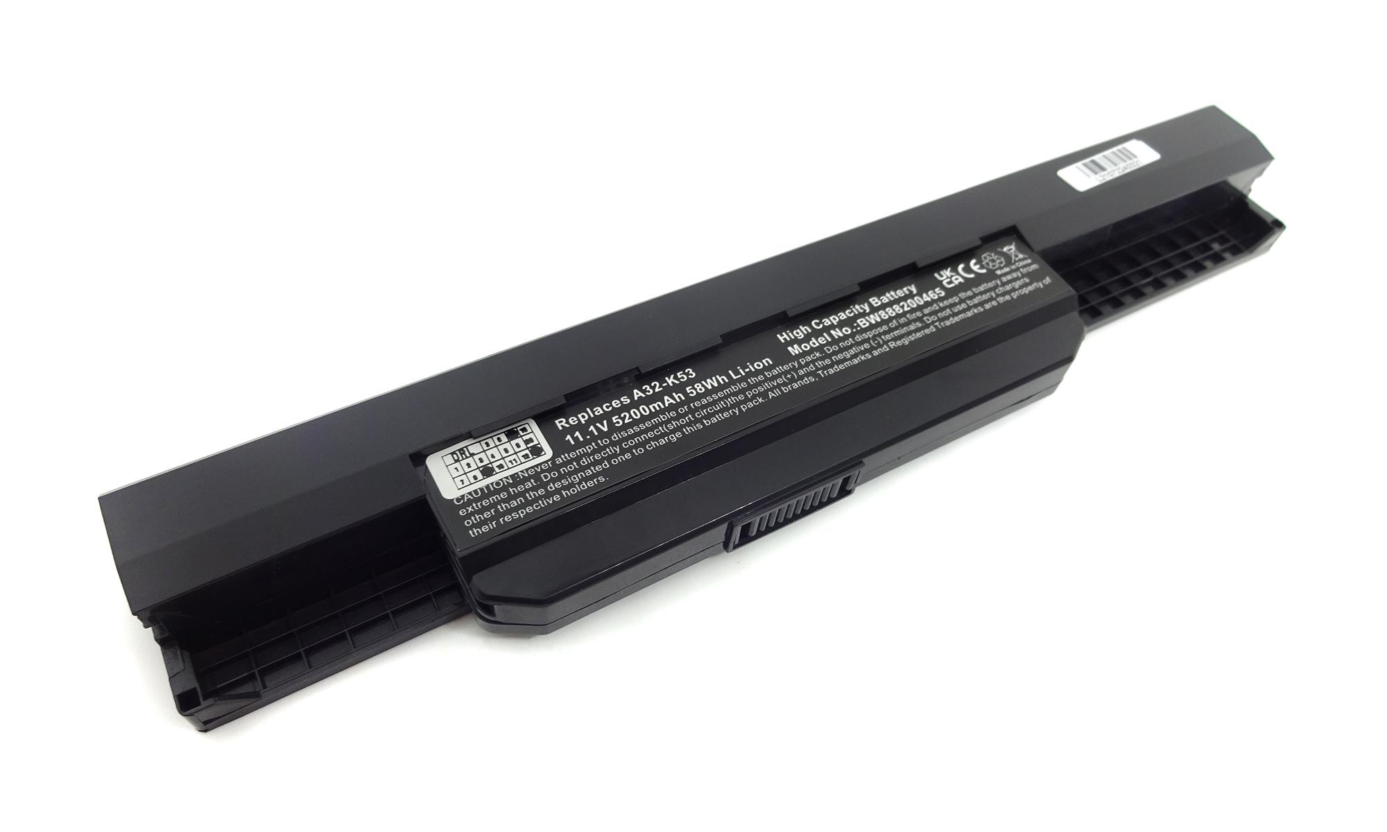 Baterie compatibila laptop Asus A43, A53, K43, K53, K54, X43, X53, X54, X84, 11.1V, 5200mAh, 58Wh, model A31-K53, A32-K53, A41-K53, A42-K53